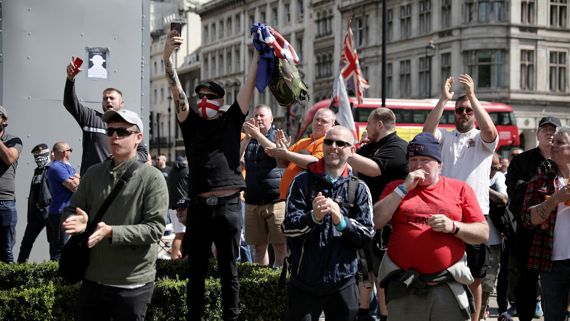 Rightwing protesters clash with police in central London ...