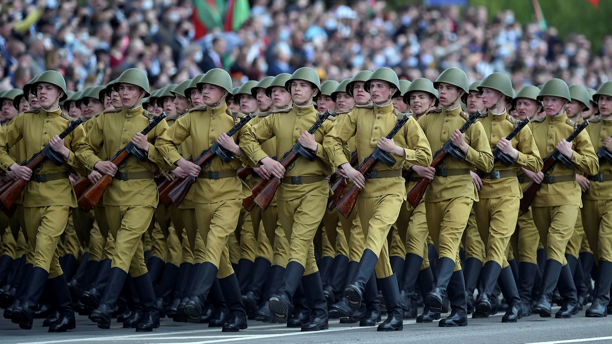 Belarus Holds Military Parade Despite Coronavirus Risk Financial Times